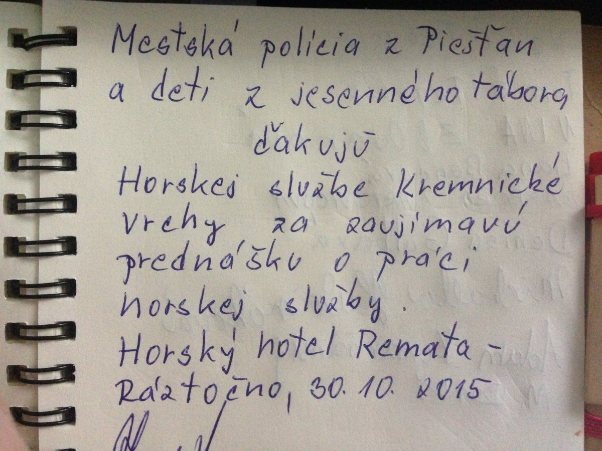 Remata – prednáška HS o bezpečnom pohybe na horách